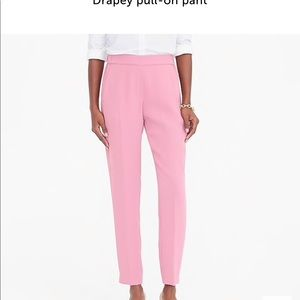 J Crew Drapey Pull-On Pant NWT Navy